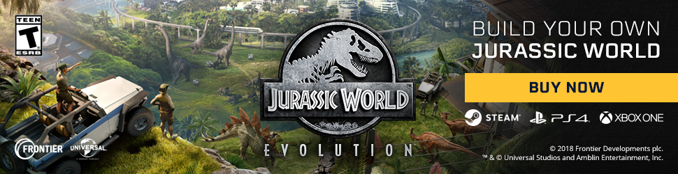 Jurassic World Evolution Buy Now Banner