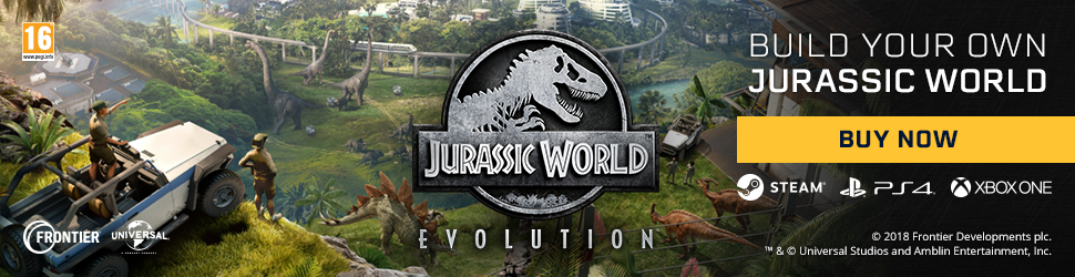 Jurassic World Evolution Buy Now Banner